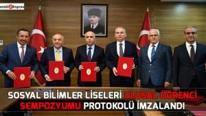 Ulusal Öğrenci Sempozyumu İş birliği Protokolü imzalandı