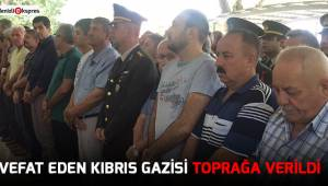 Vefat eden Kıbrıs gazisi toprağa verildi