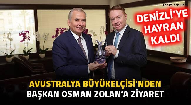 Avustralya Büyükelçisi'nden Başkan Osman Zolan'a ziyaret