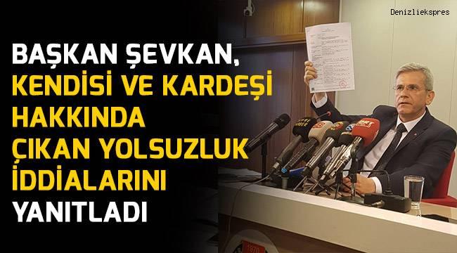 Başkan Şevkan, yolsuzluk iddilarını yanıtladı