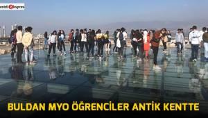 Buldan MYO Öğrenciler antik kentte