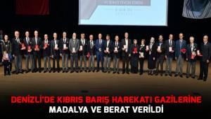 Denizli'de Kıbrıs Barış Harekatı gazilerine madalya ve berat verildi