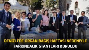 Denizli'de Organ Bağış Haftası Nedeniyle Farkındalık Stantları Kuruldu