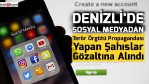 Denizli'de sosyal medyadan terör propagandasına gözaltı