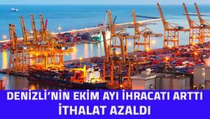 Denizli'nin ihracat rakamları arttı, ithalat azaldı