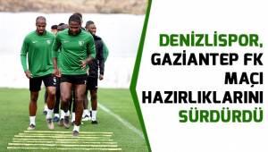 Denizlispor, Gaziantep FK maçı hazırlıklarını sürdürdü