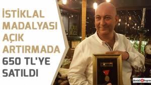İstiklal Madalyası açık artırmada 650 TL'ye satıldı