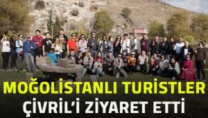 Moğolistanlı turistler Çivril'i ziyaret etti