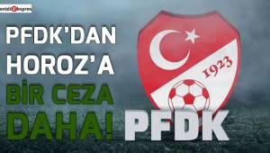PFDK'dan horoz'a bir ceza daha!