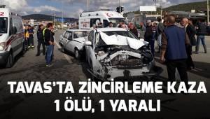Tavas'ta meydana gelen kazada 1 kişi yaşamını yitirdi, 1 yaralı