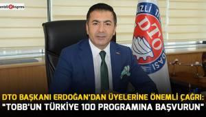 ''TOBB'UN TÜRKİYE 100 PROGRAMINA BAŞVURUN''