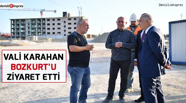 Vali Hasan Karahan Bozkurt'u ziyaret etti