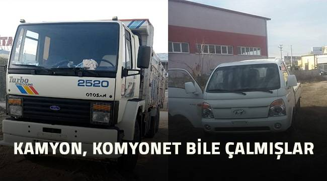 Denizli'de hırsızlar kamyon, kamyonet ne buldularsa çalmışlar