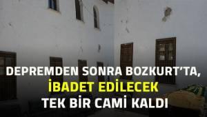Depremin ardından Bozkurt'ta ibadet edilecek sadece 1 cami kaldı