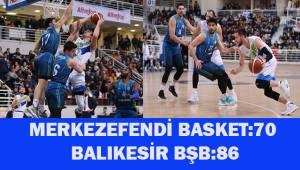 Merkezefendi Basket:70 - Balıkesin BŞB 86