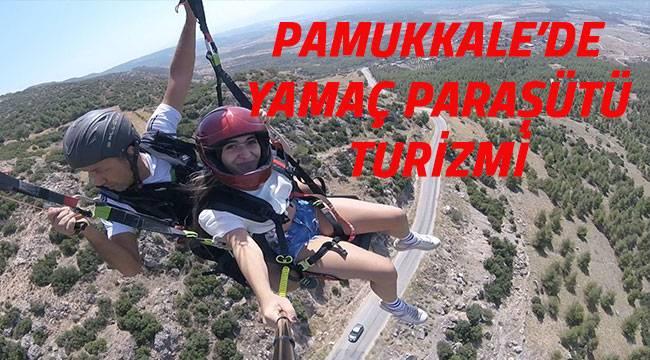 Pamukkale'de yamaç paraşütü turizmi