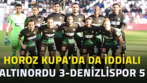 Ziraat Türkiye Kupası - Altınordu: 3 - Yukatel Denizlispor: 5