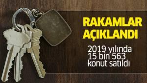 2019 yılında 15 bin 563 konut satıldı