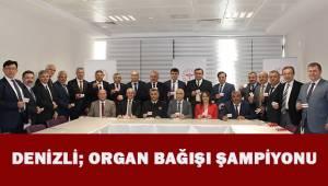 2019 YILININ ORGAN BAĞIŞI ŞAMPİYONU DENİZLİ OLDU