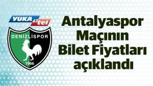 Antalyaspor Maçının Bilet Fiyatları açıklandı