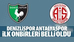 Antalyaspor Maçının onbirleri belli oldu