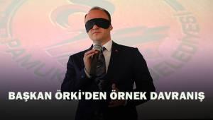 Başkan Örki'den örnek davranış