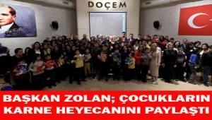 Başkan Osman Zolan, çocukların karne sevincini paylaştı