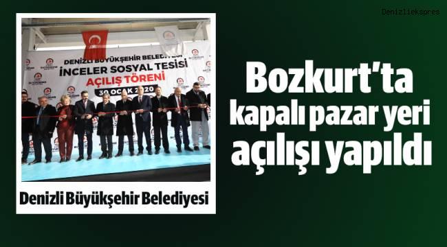Bozkurt'ta kapalı pazar yeri açılışı yapıldı