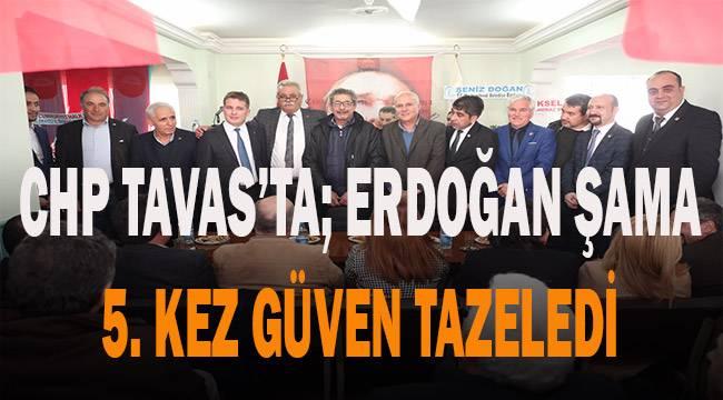 CHP Tavas'ta Erdoğan Şama'nın 5. dönemi