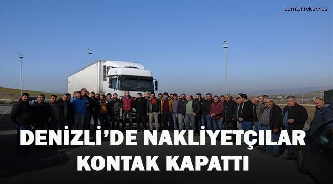 Denizli'de nakliyatçılar kontak kapattı
