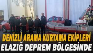 Denizli itfaiye arama kurtarma ekipleri Elazığ deprem bölgesinde