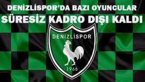 Denizlispor'da bazı oyuncular süresiz kadro dışı bırakıldı.