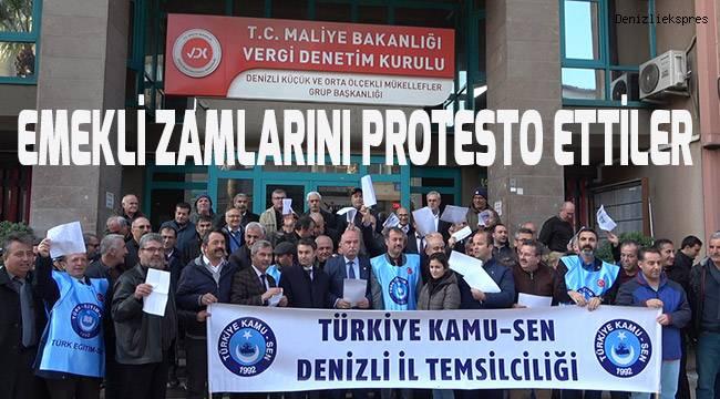 Emekli zamlarını protesto ettiler
