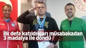 İlk defa katıldıkları müsabakadan 3 madalya ile döndü
