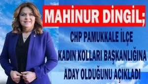Mahinur Dingil; CHP Pamukkale İlçe Kadın Kolları Başkanlığına adaylığını açıkladı