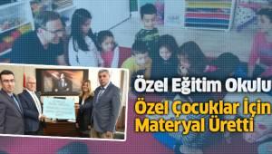 Özel Eğitim Okulu Özel Çocuklar İçin Materyal Üretti
