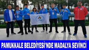 Pamukkale Belediyesi'nde madalya sevinci
