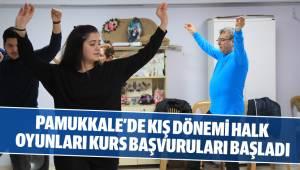 Pamukkale'de Kış Dönemi Halk Oyunları Kurs Başvuruları Başladı