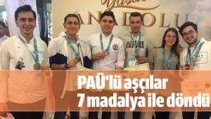 PAÜ'lü aşçılar 7 madalya ile döndü