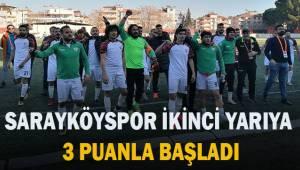 Sarayköyspor ikinci yarıya 3 puanla başladı