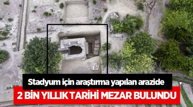 Stadyum için araştırma yapılan arazide tarihi mezar bulundu