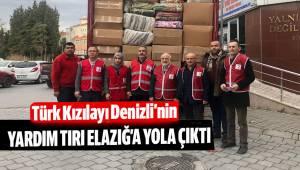 Türk Kızılayı Denizli Şubesi, yardım tırını gönderdi
