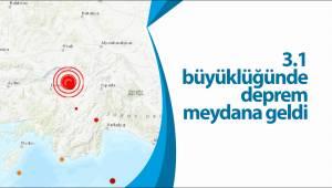 3.1 büyüklüğünde deprem meydana geldi