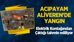 Acıpayam Aliveren'de Yangın
