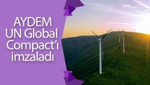 Aydem Yenilenebilir Enerji, BM Küresel İlkeler Sözleşmesi'ne imza attı
