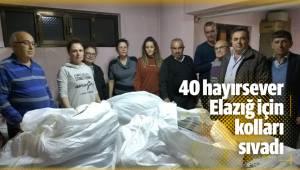 'Biz Kaç Kişiyiz' isimli grup kuran 40 hayırsever Elazığ için kolları sıvadı