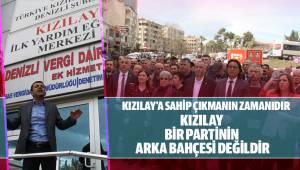 Çavuşoğlu; Kızılay bir partinin arka bahçesi değildir.