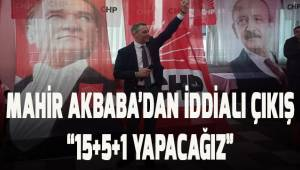 CHP Denizli İl Başkanı Akbaba'dan iddialı çıkış. ''15+5+1 YAPACAĞIZ''