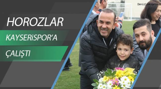 Denizlispor, Kayserispor maçı hazırlıklarını sürdürdü