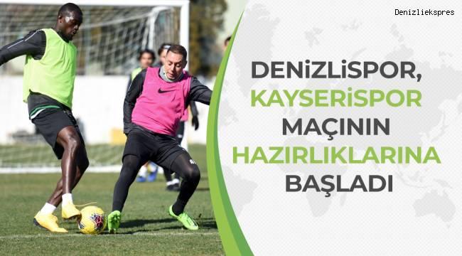 Denizlispor, Kayserispor maçının hazırlıklarına başladı